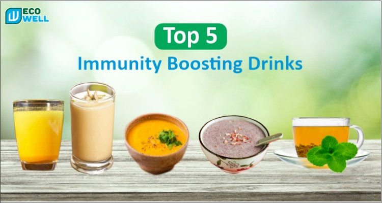 Top 5 Immunity Boosting Drinks You Must Have   Beat Covid-19 in 2021    Ecowell India